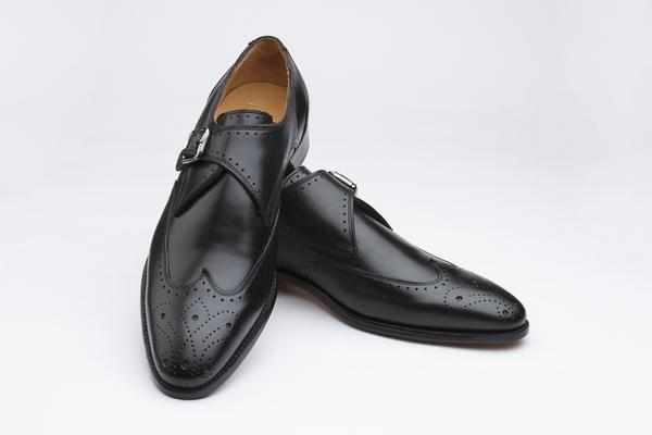 Brogue Monkstraps Shoes - Black