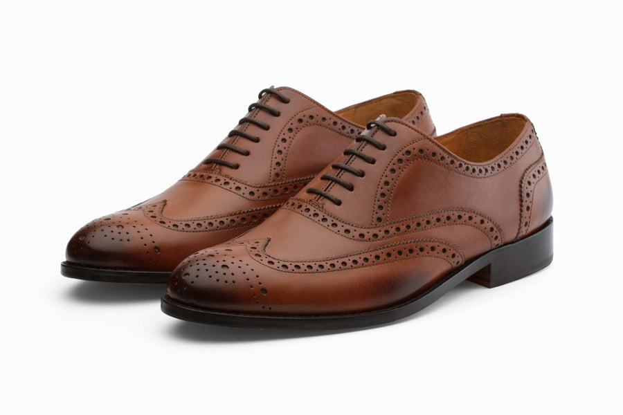 Wingtip Brogues - Dark Cognac
