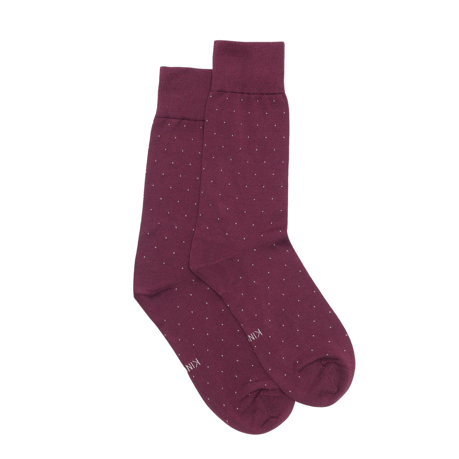 Luxury Socks - Wine (Studded)
