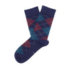Luxury Socks - Celestial Blue (Argyle)