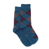 Luxury Socks - Deep Teal (Argyle)