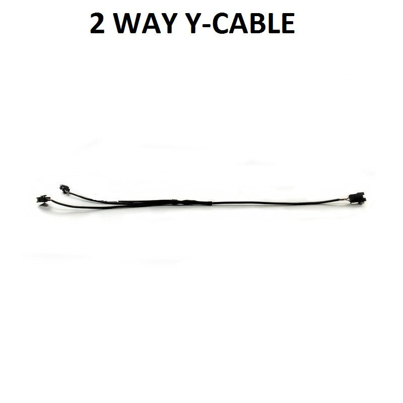1 Piece - Additional 2-Way Y-Cable Splitter