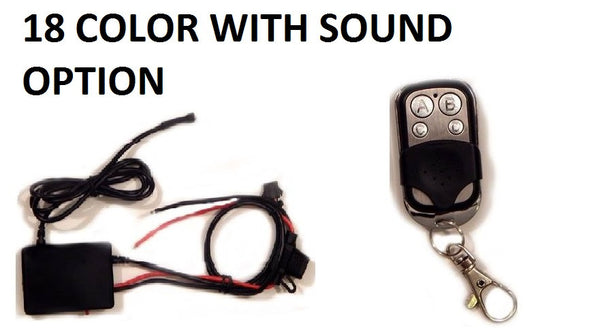 18 Million Color Sound Activated Control Box & Remote