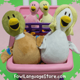 """Fowl Language"" Family of Plushies"