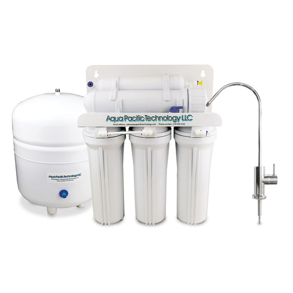 AP TECH 5-STAGE UNDER SINK REVERSE OSMOSIS DRINKING WATER FILTER SYSTEM (E01)