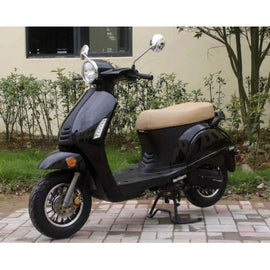 "50cc MC-57-50 Moped Scooter with Sports Style, 10"" Wheels, Electric/kick Start! Fully Assembled!"