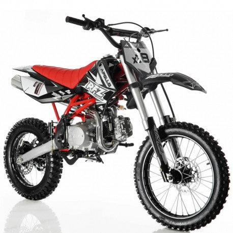 "Apollo DB-X18 125cc Dirt Bike,4 Speed Manual Clutch, Front/Rear 17""/14'' Wheels"