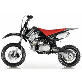 "Apollo DB-X4 110cc Dirt Bike,4 Speed Semi Automatic, Front/Rear 14""/12'' Wheels"