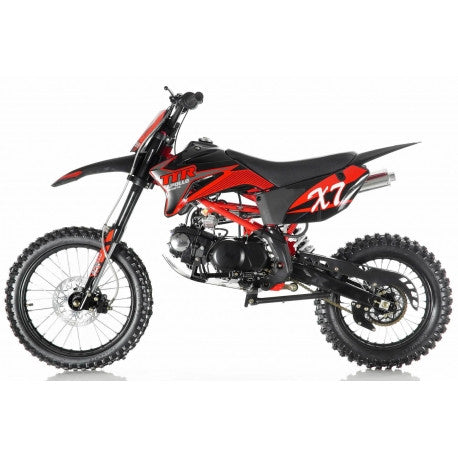 "Apollo DB-X7 125cc Dirt Bike,4 Speed Manual Clutch,Front/Rear 17""/14'' Wheels"