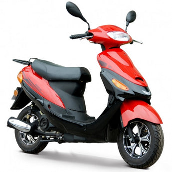 2019 Boom 50cc Moped Scooter BD50QT-9A with 10'' Wheels Kick/Electrical Starter