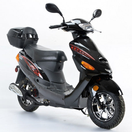 Boom 50cc Moped Scooter BD50QT-9A with 10'' Wheels Kick/Electrical Starter