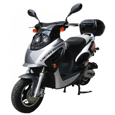 "MC-07K-50 Air-cooled four-stroke, 50cc,Fully Auto CVT Transmission,Rear Luggage Box & 10"" Wheel !"