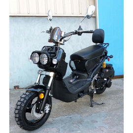 "MC-22Y-150 150cc Sports Moped Scooter, 12"" Aluminum Rim Wheels, Electric/Kick Start!Fully Assembled!"