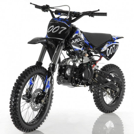 New Apollo DB-007 125cc Kids Gas Dirt Bike,4 Speed Manual Clutch