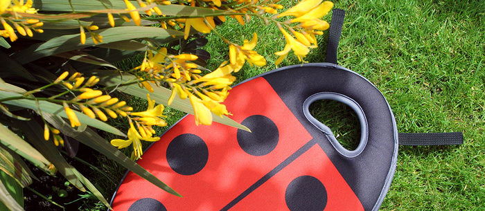 Dotty about gardens: new Burgon & Ball Buzz and Dotty Kneelo® kneelers for kids