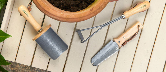 A new RHS-endorsed collection of container gardening tools from Burgon & Ball