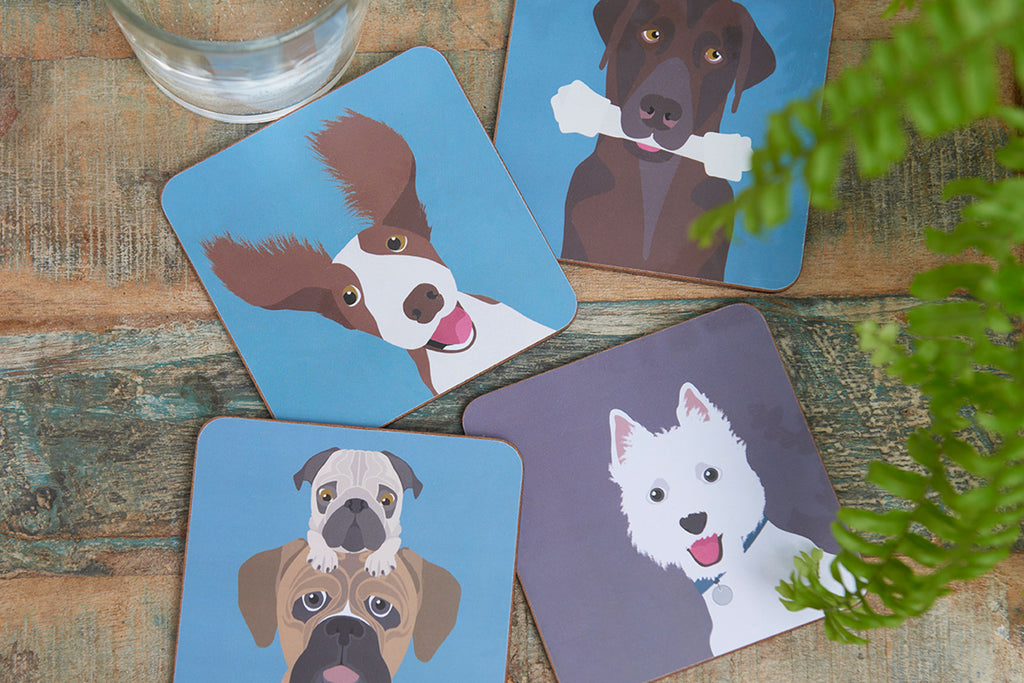'The Rabble' Creaturewares dog coasters
