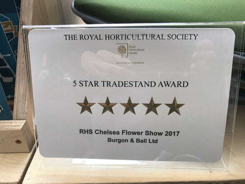 Five star award at RHS Chelsea 2017