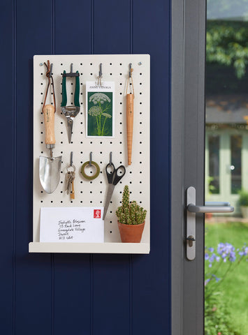 Garden Supplies pegboard by Burgon & Ball