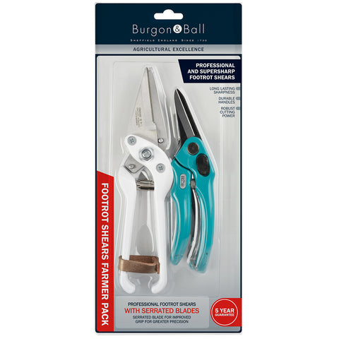 Burgon & Ball Footrot Shear Farmer Pack - Serrated Blade Professional Footrot Shears