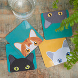 """Doris"" Cat Coasters"