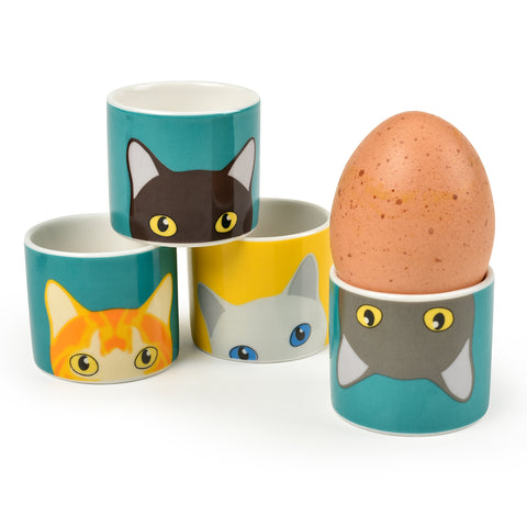 """Doris"" Cat Egg Cups"