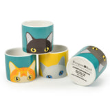 'Doris' cat egg cups by Burgon & Ball