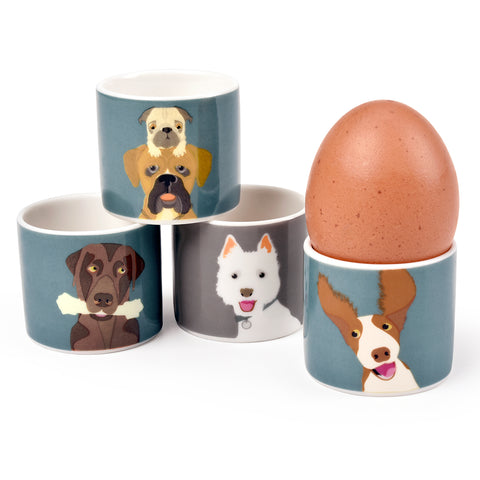 """The Rabble"" Dog Egg Cups"