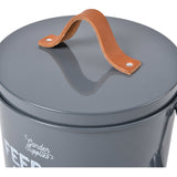 Burgon & Ball 'Feed the Birds' bird food tin - charcoal