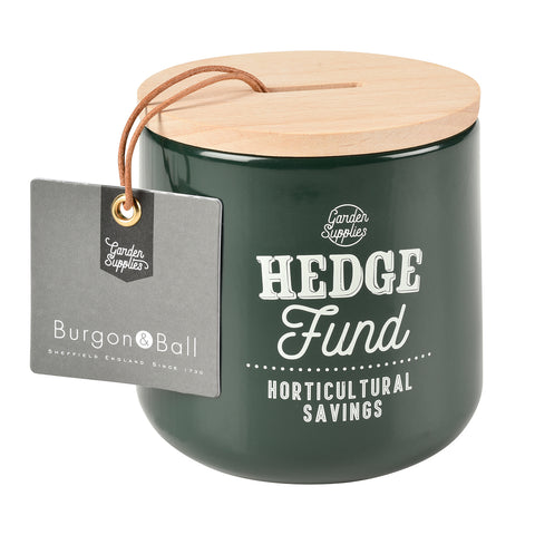 'Hedge Fund' money box by Burgon & Ball, frog green