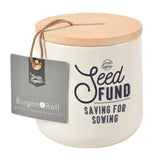 'Seed Fund' money box by Burgon & Ball, stone colour