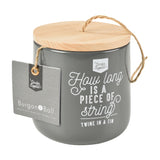 Twine dispenser with 120m jute twine by Burgon & Ball - charcoal