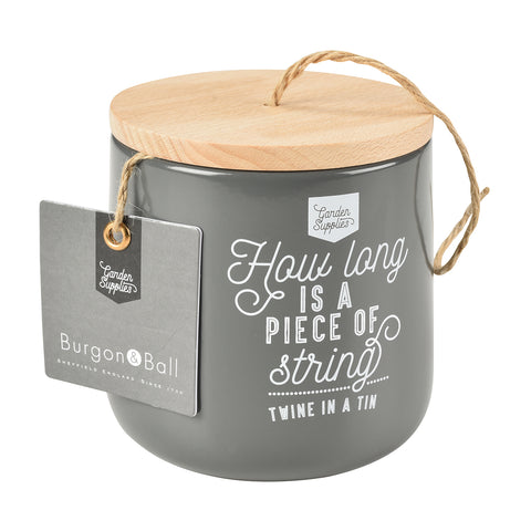 Twine Dispenser with 120m of Jute Twine - Charcoal