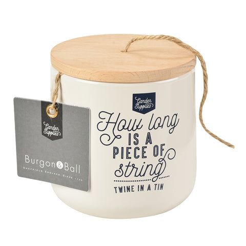 Twine Dispenser with 120m of Jute Twine - Stone