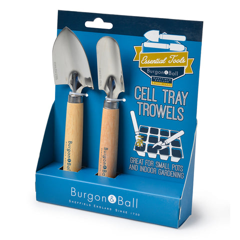 Cell tray trowels by Burgon & Ball