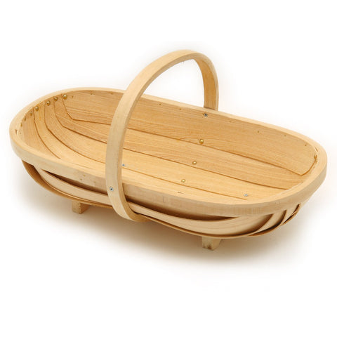 Large wooden trug by Burgon & Ball