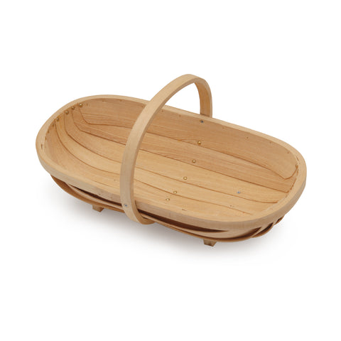 Medium wooden trug by Burgon & Ball