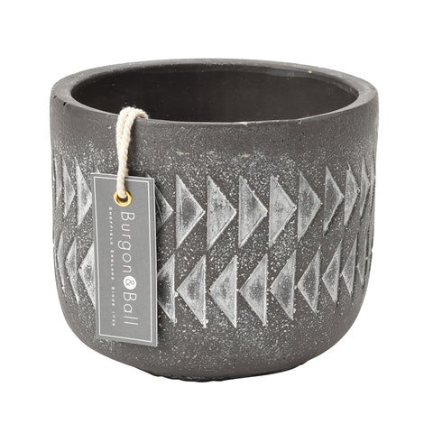 Aztec indoor plant pot by Burgon & Ball