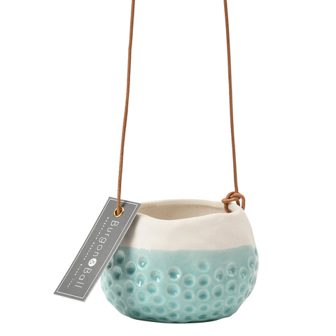 'Baby Dotty' hanging plant pot by Burgon & Ball, indoor plant pot