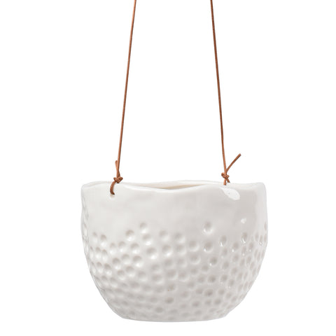 'Dot' hanging plant pot by Burgon & Ball, indoor plant pot