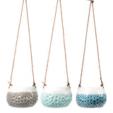 Trio of 'Baby Dotty' hanging pots by Burgon & Ball