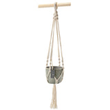 Macramé hanging plant pot by Burgon & Ball