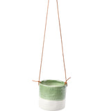 'Pie Crust' hanging plant pot by Burgon & Ball