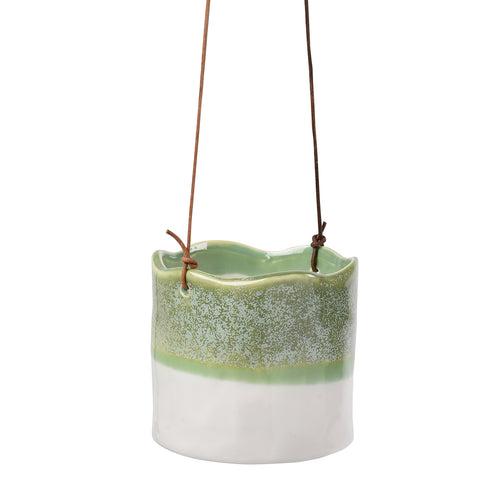 'Wave' hanging plant pot by Burgon & Ball, indoor plant pot