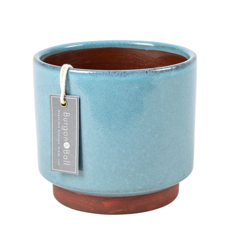 Malibu indoor pot, blue, large, by Burgon & Ball