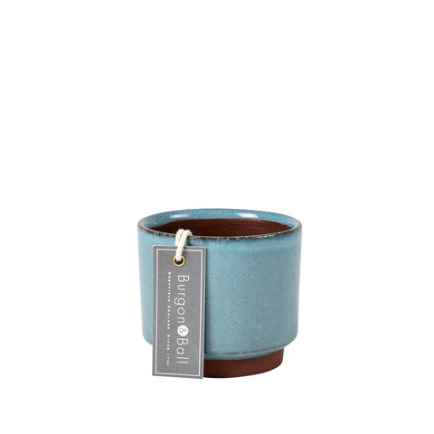 Malibu succulent pot - blue, by Burgon & Ball