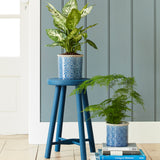Porto Glazed Pot - Dark Blue