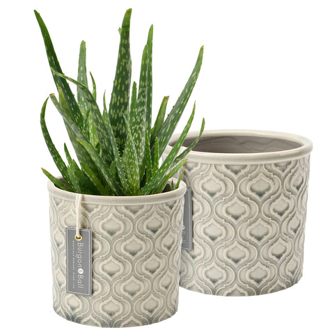 Venetian Glazed Pot - Grey