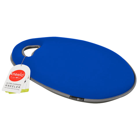 Kneelo® memory foam garden kneeler in 'Cobalt' colour, by Burgon & Ball