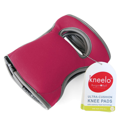 Burgon & Ball Kneelo® gardening knee pads in Berry, memory foam knee pads